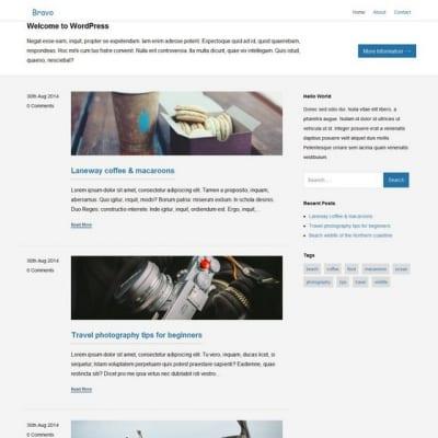 Шаблон WordPress - Bravo