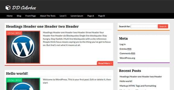 Шаблон Wordpress - Colorbox