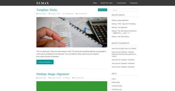 Шаблон Wordpress - Elmax