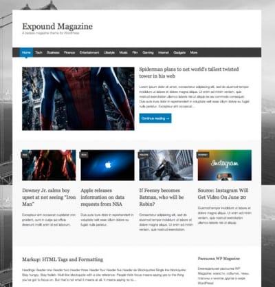 Шаблон WordPress - Expound