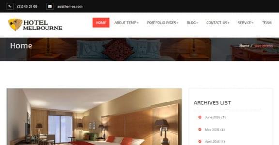 Шаблон Wordpress - Hotel-Melbourne
