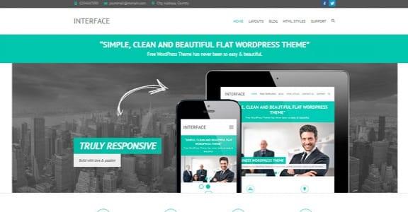 Шаблон Wordpress - Interface