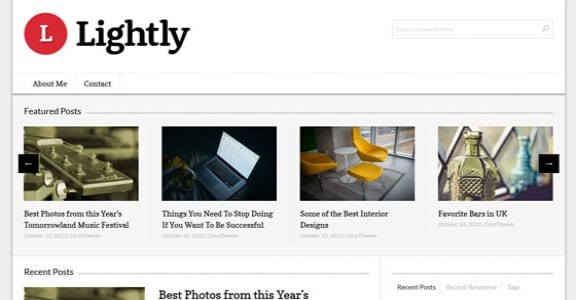 Шаблон Wordpress - Lightly