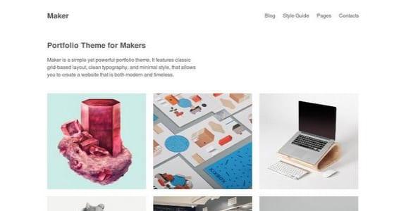 Шаблон Wordpress - Maker