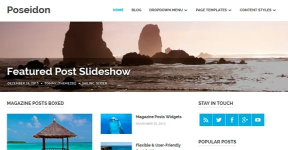 Шаблон Wordpress - Poseidon