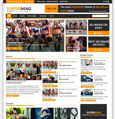 Шаблон WordPress - SuperMag