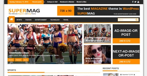 Шаблон Wordpress - SuperMag