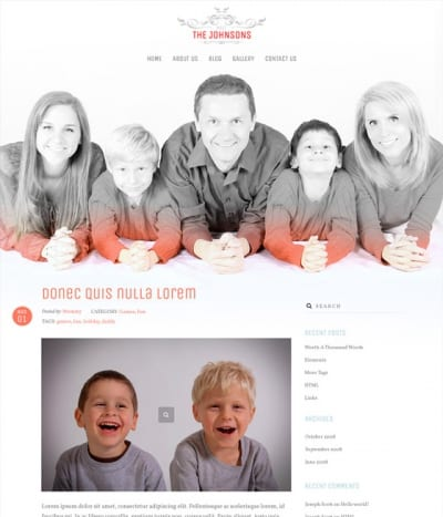 Шаблон WordPress - The Johnsons