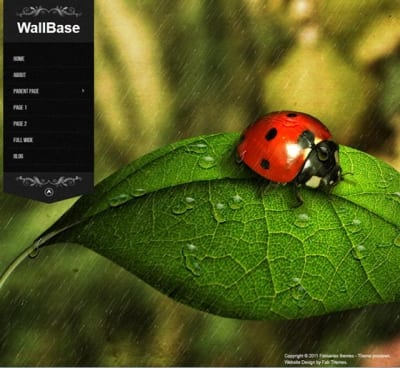 Шаблон WordPress - Wallbase