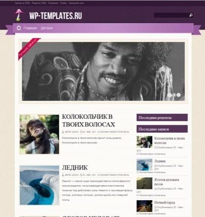 Шаблон WordPress - Zylyz