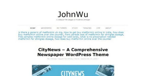 Шаблон Wordpress - BadJohnny