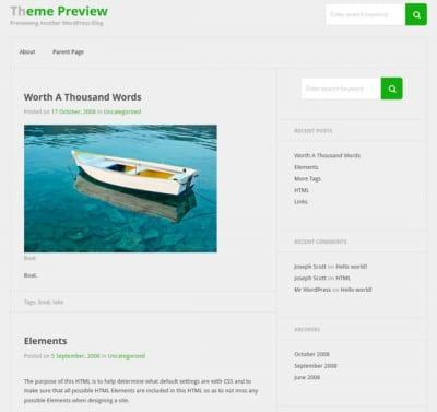 Шаблон WordPress - Bicubic
