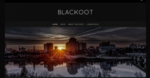 Шаблон Wordpress - Blackoot Lite