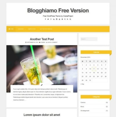 Шаблон WordPress - Blogghiamo