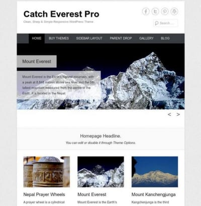 Шаблон WordPress - Catch Everest