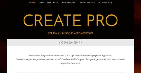 Шаблон Wordpress - Create