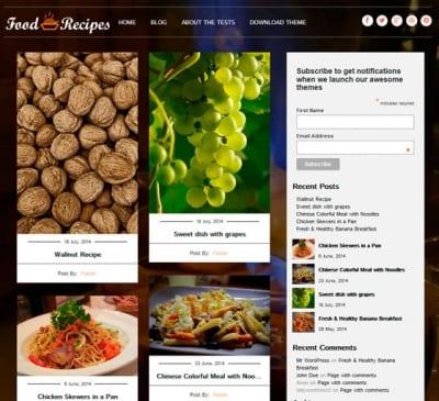 Шаблон WordPress - Food Recipes