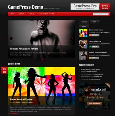 Шаблон WordPress - GamePress