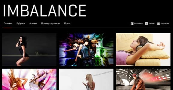 Шаблон Wordpress - Imbalance Black