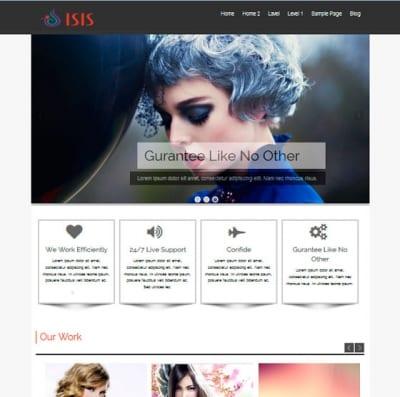 Шаблон WordPress - Isis