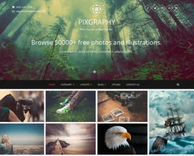 Шаблон WordPress - Pixgraphy