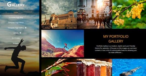 Шаблон Wordpress - Portfolio Gallery