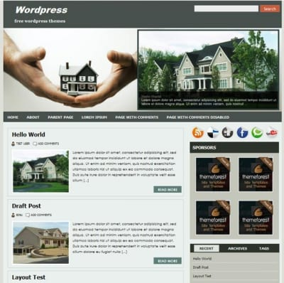 Шаблон WordPress - Realtypress