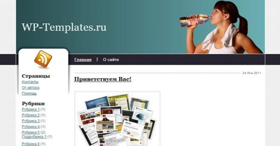 Шаблон Wordpress - Rehydration
