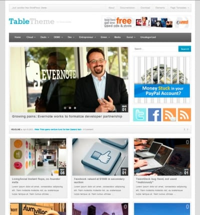 Шаблон WordPress - Table