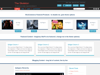 Шаблон WordPress - The Skeleton