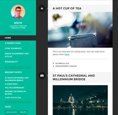 Шаблон WordPress - Writr