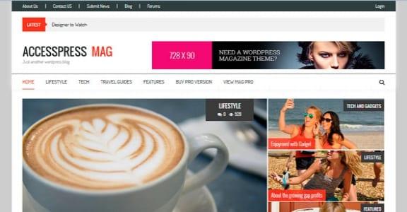 Шаблон Wordpress - AccessPress Mag