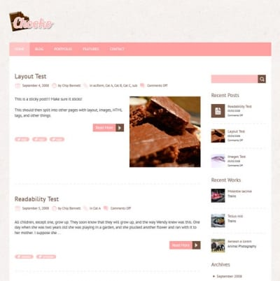 Шаблон WordPress - Chooko Lite