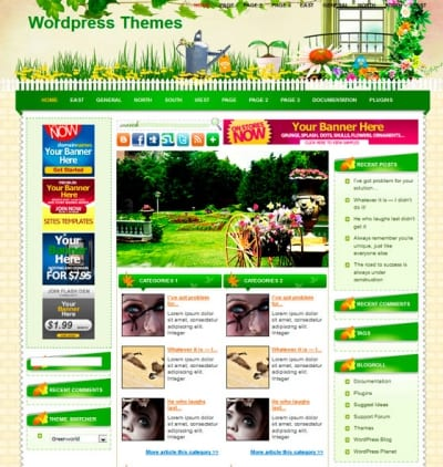 Шаблон WordPress - Greenworld