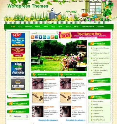 Шаблон WordPress - Greenworld