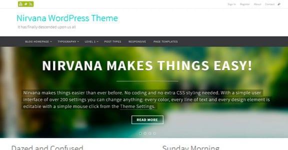 Шаблон Wordpress - Nirvana