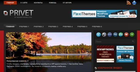 Шаблон Wordpress - Privet