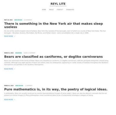 Шаблон WordPress - Reyl Lite