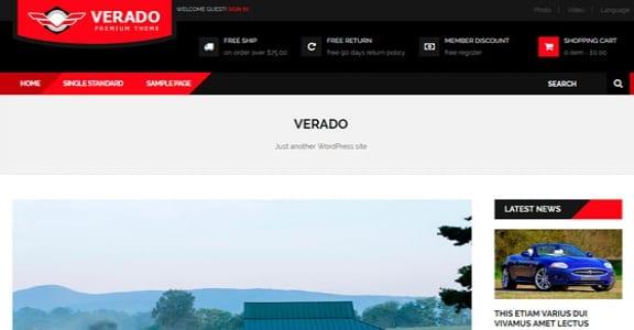 Шаблон Wordpress - Verado Lite
