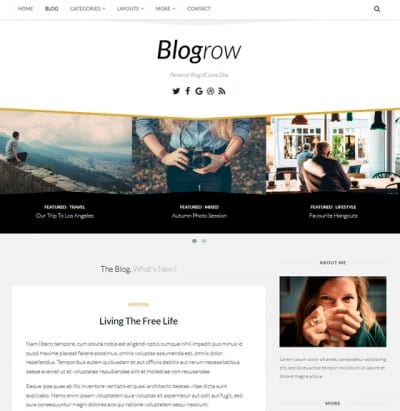 Шаблон WordPress - Blogrow