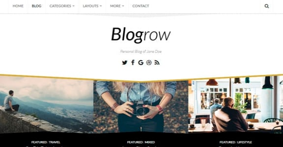 Шаблон Wordpress - Blogrow