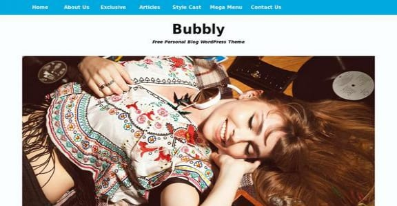 Шаблон Wordpress - Bubbly