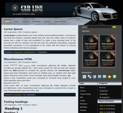 Шаблон WordPress - Car Line