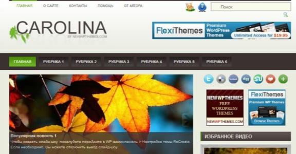 Шаблон Wordpress - Carolina