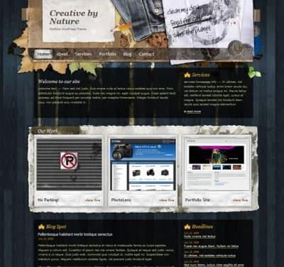 Шаблон WordPress - Creative by Nature