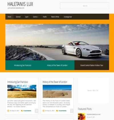 Шаблон WordPress - HaletanisLux