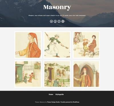 Шаблон WordPress - Masonry