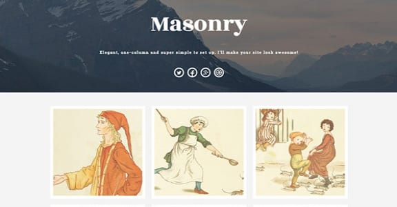 Шаблон Wordpress - Masonry