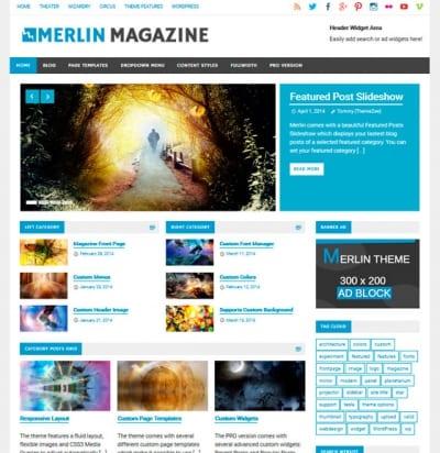 Шаблон WordPress - Merlin