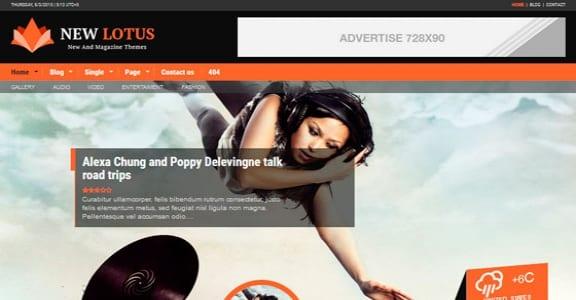 Шаблон Wordpress - New Lotus